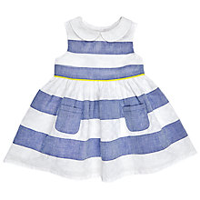Buy John Lewis Baby Stripe Dress, Blue/White Online at johnlewis.com