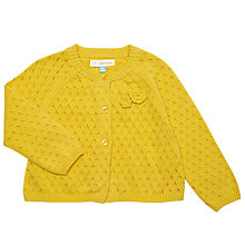 Buy John Lewis Baby Corsage Cardigan, Yellow Online at johnlewis.com