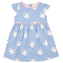 Buy John Lewis Baby Tiger Jersey Dress, Blue/White Online at johnlewis.com