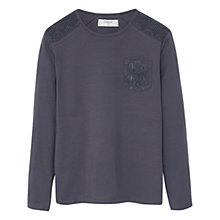 Buy Mango Kids Girls' Crochet Detail T-Shirt Online at johnlewis.com