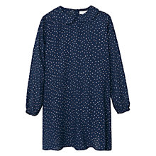 Buy Mango Kids Girls' Polka Dot Dress, Navy Online at johnlewis.com