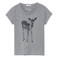 Buy Mango Kids Girls' Print Cotton T-Shirt, Grey Online at johnlewis.com