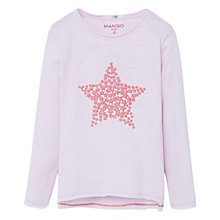 Buy Mango Kids Girls' Star Print Cotton T-Shirt Online at johnlewis.com