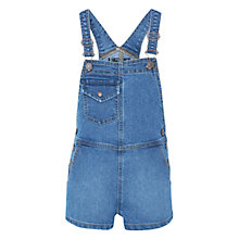 Buy Mango Kids Girls' Short Dungarees, Blue Online at johnlewis.com