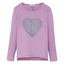 Buy Mango Kids Girls' Heart Print Cotton T-Shirt Online at johnlewis.com