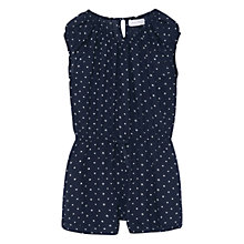 Buy Mango Kids Girls' Printed Playsuit, Navy Online at johnlewis.com