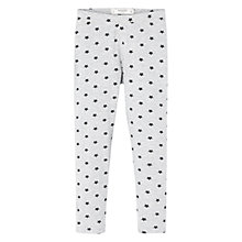 Buy Mango Kids Girls' Star Print Leggings, Grey Online at johnlewis.com