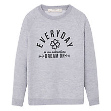 Buy Mango Kids Girls' Print Sweatshirt, Grey Online at johnlewis.com