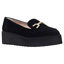 Buy Carvela Latch Flatform Slip On Loafers, Black Suede Online at johnlewis.com