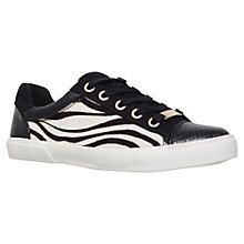 Buy Carvela Light Low Top Trainers, Black Pony Online at johnlewis.com