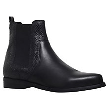 Buy Carvela Splash Leather Chelsea Ankle Boots, Black Online at johnlewis.com