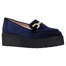 Buy Carvela Latch Flatform Slip On Loafers, Navy Velvet Online at johnlewis.com