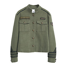 Buy Mango Military Jacket, Khaki Online at johnlewis.com