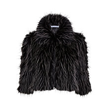 Buy Gina Bacconi Faux Fur Cropped Jacket, Black/Beige Online at johnlewis.com