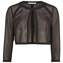 Buy Gina Bacconi Chiffon Bolero, Black Online at johnlewis.com