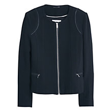 Buy Mango Textured Jacket, Black Online at johnlewis.com