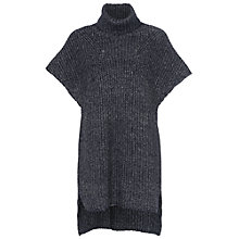Buy French Connection Verdi High Neck Jumper Dress, Utility Blue Online at johnlewis.com