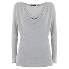 Buy Mint Velvet Jersey Cowl Neck Top, Silver Grey Online at johnlewis.com