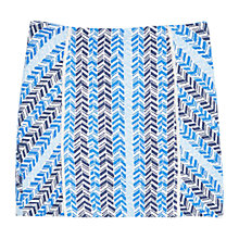 Buy Mango Embroidered Mini Skirt, Bright Blue Online at johnlewis.com