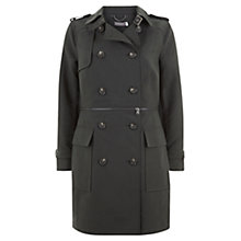 Buy Mint Velvet Zip Off Trench Coat, Khaki Online at johnlewis.com