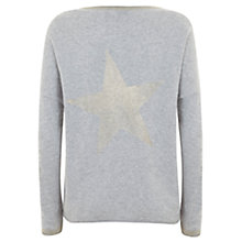 Buy Mint Velvet Foil Star Knit Jumper, Grey Online at johnlewis.com