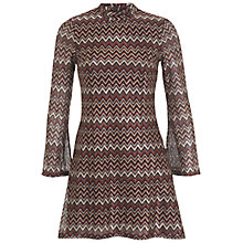 Buy Miss Selfridge Zig Zag Lace Shift Dress, Multi Online at johnlewis.com