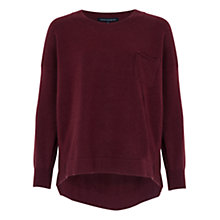 Buy French Connection Claction Long Sleeve Jumper, Biker Berry Online at johnlewis.com