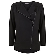 Buy Mint Velvet Biker Blouse, Black Online at johnlewis.com