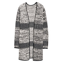 Buy Violeta by Mango Flecked Cotton Cardigan, Black Online at johnlewis.com