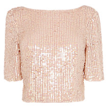 Buy Coast Dera Top, Blush Online at johnlewis.com