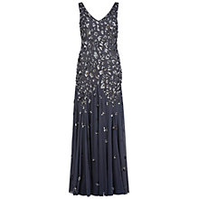 Buy Gina Bacconi Block Sequin Maxi Dress, Grey Online at johnlewis.com