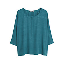 Buy Mango Textured Blouse, Bright Green Online at johnlewis.com