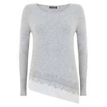 Buy Mint Velvet Felt Hem Knitted Jumper, Grey Online at johnlewis.com