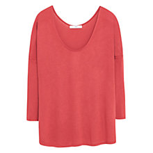 Buy Mango Dropped Seam Top Online at johnlewis.com