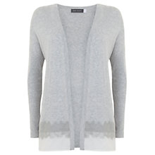 Buy Mint Velvet Felt Hem Cardigan, Silver Grey Online at johnlewis.com