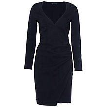 Buy French Connection Lula Zip Detail Dress, Black Online at johnlewis.com