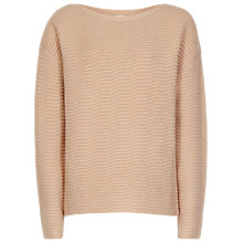 Buy Reiss Frida Textured Stitch Jumper, Blush Online at johnlewis.com