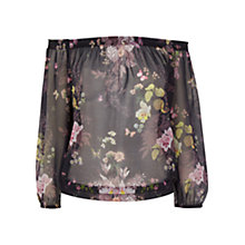 Buy Oasis Savage Beauty Top, Multi Black Online at johnlewis.com