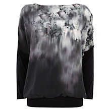Buy Mint Velvet Macy Print Bat Wing Top, Multi Online at johnlewis.com