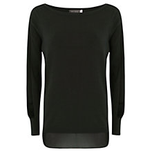 Buy Mint Velvet Boxy Knit Jumper, Khaki/Black Online at johnlewis.com