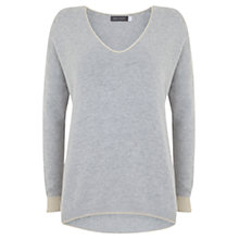 Buy Mint Velvet Stag Back Knit Jumper, Grey Online at johnlewis.com