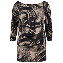 Buy Gina Bacconi Swirl Print Jersey Top, Steel Grey Online at johnlewis.com