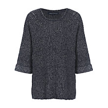 Buy French Connection Verdi Jumper, Utility Blue Online at johnlewis.com