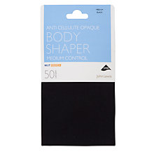 Buy John Lewis 50 Denier Anti-Cellulite Bodyshaper Opaque Tights, Black Online at johnlewis.com