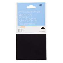 Buy John Lewis 100 Denier Anti-Cellulite Bodyshaper Opaque Tights, Black Online at johnlewis.com