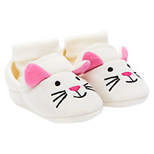 Buy Baby Joule Nipper Cat Slippers, Cream/Multi Online at johnlewis.com