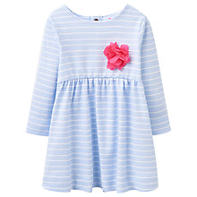 Buy Baby Joule Hannah Long Sleeve Jersey Dress, Blue/White Online at johnlewis.com