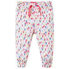 Buy Baby Joule Lizzie Bean Woven Trousers, White/Multi Online at johnlewis.com