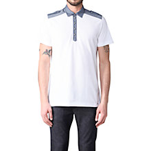 Buy Diesel Angie Chambray Trim Polo Shirt Online at johnlewis.com