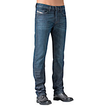 Buy Diesel Buster Regular Slim Tapered Jeans, Mid Blue Online at johnlewis.com